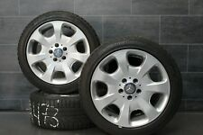 Original Mercedes C Class w203 Alloy Rims Winter Tyres 225 45 r17 91H