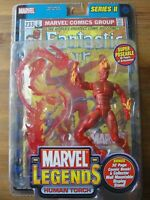 ToyBiz Marvel Legends Series II Super Poseable HUMAN TORCH Figure Brand New