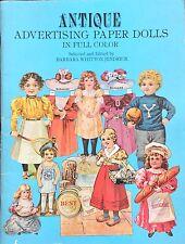 Antique Advertising Paper Dolls Book, 1981, 16 Pages, Uncut