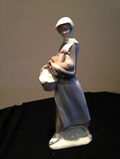 Lladro Girl with Cockerel and Basket #4591