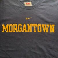 Nike Morgantown West Virginia Mens Large Blue WV Swoosh Swish