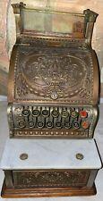 Beautiful Old Original Sm Mdl No.313 Brass National Candy Store Cash Register
