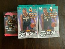 2019-20 Panini Mosaic NBA Basketball Lot - (2) Hanger Boxes and (1) Cello Pack