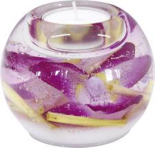 Moderner Teelichthalter Windlichthalter aus Glas 8x9 cm *Exklusive Handarbeit*
