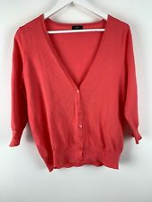 Womens Ladies Cardigan Sweater Top Apricot Colour F&F Size 14 Uk *N