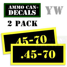 .45-70 Ammo Can Box Decal Sticker Set bullet ARMY Gun safety Hunting 2 pack YW