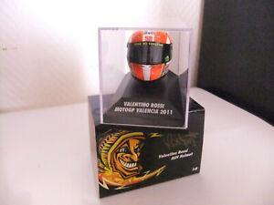 Casque Valentino Rossi MOTO GP VALENCIA 2011 Minichamps 1/8