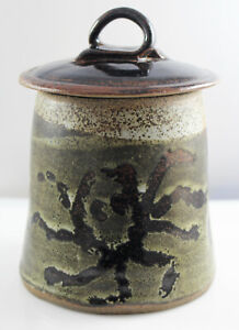Vintage Hand Crafted British Studio Pottery Stoneware Lidded Jar / Container