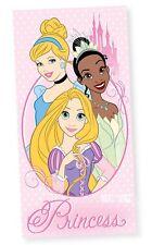 Officiel DISNEY PRINCESS plage bain serviette en coton Rapunzel Tiana emmêlés