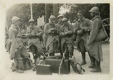 PHOTO ANCIENNE - VINTAGE SNAPSHOT - MILITAIRE SOLDAT GARE MOURMELON 1932-SOLDIER