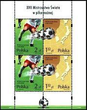 Polska Poland 2002 Fi BLOK 140II Mi BLOCK 150 MNH Mistrzostwa Świata w Piłce Noż