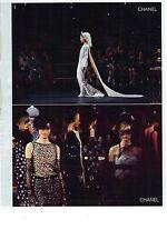 PUBLICITE ADVERTISING 2011   CHANEL défilé haute couture la robe de mariée