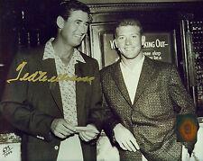 Ted Williams w/ Mantle Signed Auto Autographed Ball Photo Green Diamond COA Holo