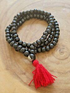 Black Sandalwood 108 8mm Buddhist Prayer Wood Bead Mala Necklace Bracelet