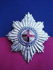 British Army COLDSTREAM GUARDS Officer's Silver Metal Military Helmet/Hat Badge
