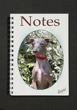 Italian Greyhound Dog Notebook/Notepad with a small image on every page