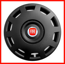 "4 x14"" Wheel trims fit Fiat Punto 500 Panda - 14'' black wheel covers new logo"