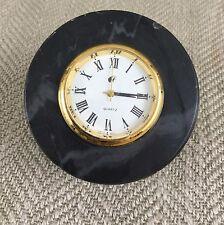 Vintage Desk Travel Clock Malaysian Airways Airline Gift Memorabilia Marble