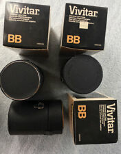 vintage Vivitar BB lens case THREE new old stock in box