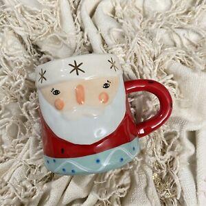 ANTHROPOLOGIE BirdCanFox Santa Claus Christmas Mug Holiday Festive