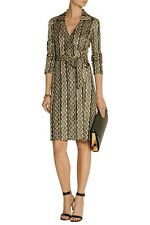"🎁DIANE VON FURSTENBERG ""BNWT"",Dolores Metallic Knitted Wrap Dress,s:10US,In a🎁"