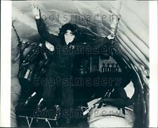1978 NASA Astronaut Anna Fisher in KC-135 Zero Gravity Aircraft Press Photo