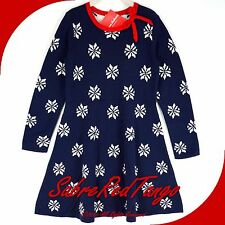NWT HANNA ANDERSSON SNOW STARS SWEATER DRESS NAVY BLUE 150 12