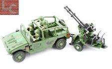 Modern Soldier towed AA Gun Jeep army 4 mini figure moc USA tank US US block
