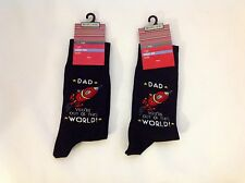 M&S Man 2 Pairs Of Socks Cotton Rich Size: 6-12
