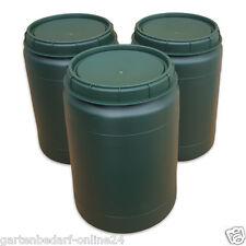 3 Stück 60 Liter grüne Futtertonne Futterfass Vorratstonne Drehdeckel Box NEU.