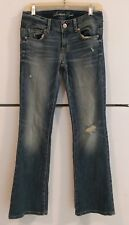 American Eagle Womens Size  4 Reg Stretch Distressed Original Boot Denim Jeans