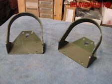 Military Truck M35  Front Fender Light Mount Bracket/Guards (Pair) NOS New