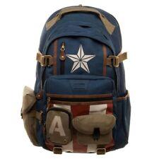 Marvel The Avengers Captain America Backpack Cosplay Student Schoolbag Knapsack