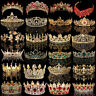 Bridal Gold Crystal Pearl Rhinestone Tiara Crown Wedding Prom Headpiece Headband