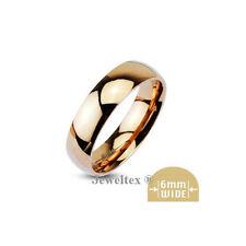 Unisex Rose Gold 18k Wedding & Anniversary Bands