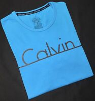 Calvin Klein Men's Crew Neck T Shirt In Turquoise Blue