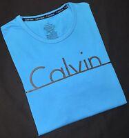 Calvin Klein Men's Crew Neck T Shirt In Turquoise Blue