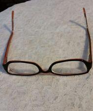 Authentic PRADA women's eye glasses frame VPR11F 51917 BP2004076 Black/Orange