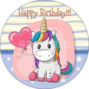 Einhorn Eßbar Torten-Bild-Aufleger Party Deko Muffin Geburtstag Cupcake Unicorn