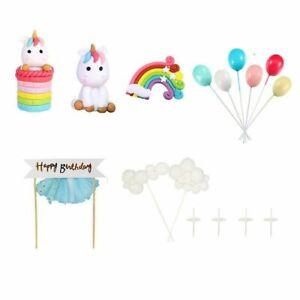 16pcs/satz Einhorn Unicorn Topper Cupcake Kinder Geburtstag Muffin Kuchen Torte