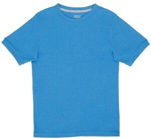 FRENCH TOAST BOYS HEATHER BLUE BASIC S/S 2X2 RIB TEE SIZE LARGE 10/12 NEW NWT