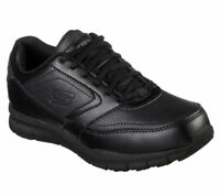 Skechers shoes Black Women Wide Fit Work Memory Foam Slip Resistant Safety 77235