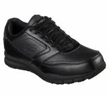 a163da6010a4 77235 Wide Work Fit Black Skechers shoes Women s Memory Foam Slip Resistant  Safe