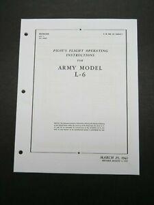1943 AAF Model L-6 ( Interstate Cadet ) Aircraft Pilot's Flight Operating Manual