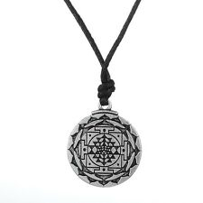 Sri Yantra Amulet Necklace, Sacred Geometry, Chakra