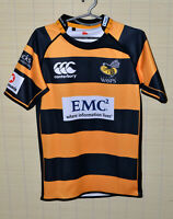 LONDON WASPS RUGBY UNION SHIRT JERSEY CANTERBURY SIZE S ADULT