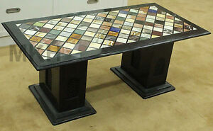 table tops and legs marble inlay coffee table top black handmade mosaic