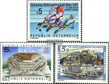 Österreich 1877,1878,1879 (kompl.Ausg.) gestempelt 1987 Eishockey, Austria Cente