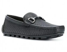 Ermenegildo Zegna Woven Leather Shoes Loafers Size 9
