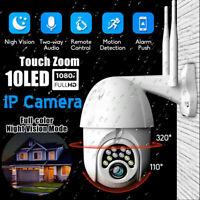 1080P WIFI IP Camera Wireless Outdoor CCTV HD PTZ Smart Home Security IR Camera~